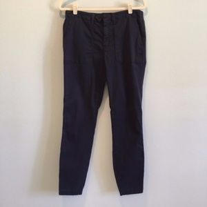 J.Crew Tall Inseam Navy Capri Pants